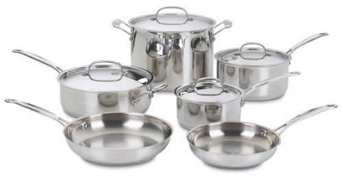 Cuisinart 77-10 Chef's Classic Stainless 10-Piece Cookw...