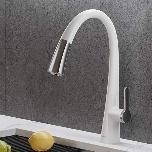 Kraus KPF-1673CHWH Nolen Dual Function Pull, Faucets fo...