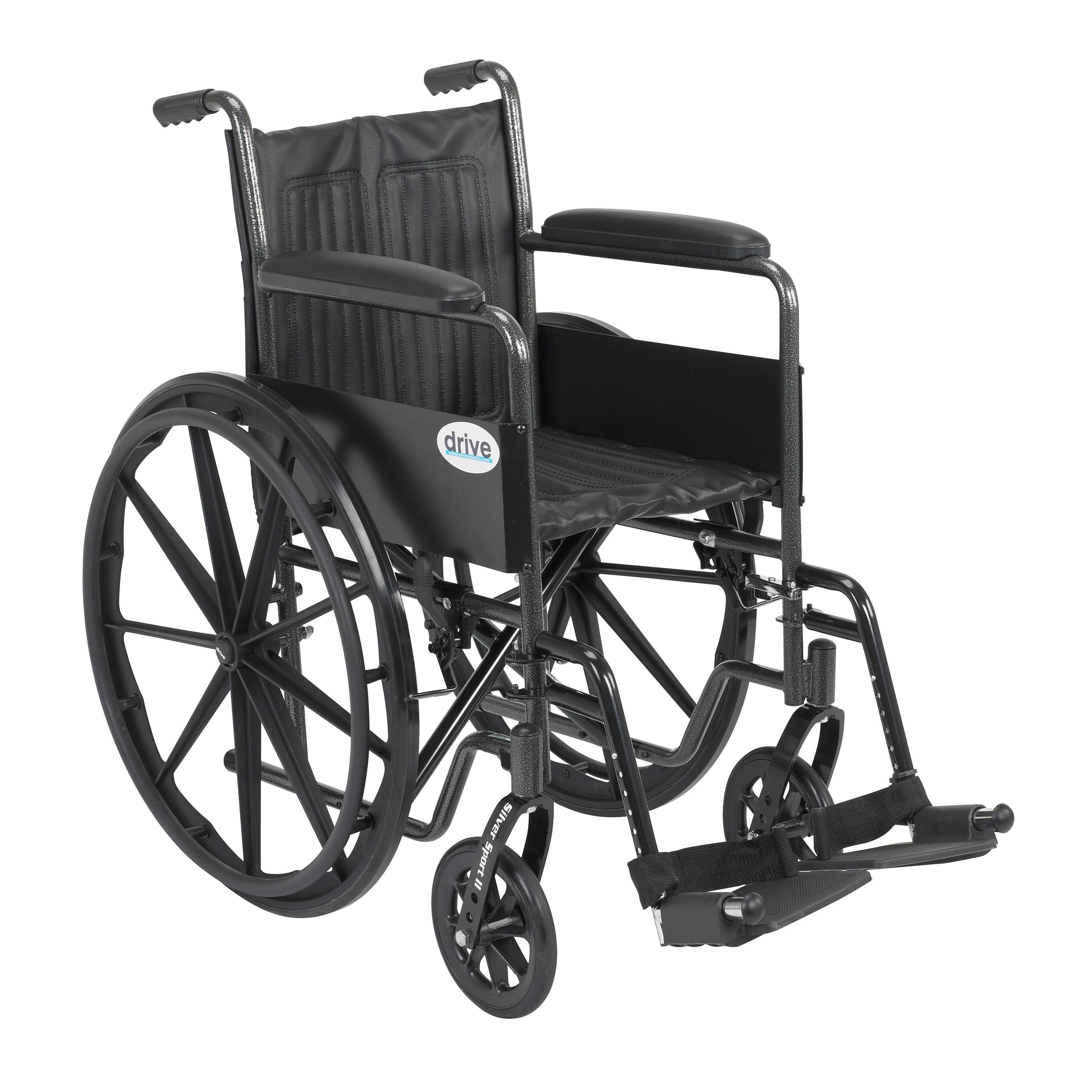 Drive Medical Silver Sport 2 Wheelchair with Various Ar...