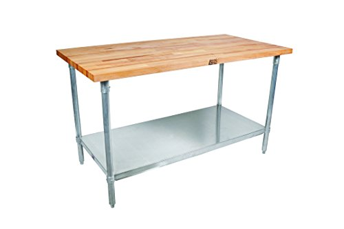 John Boos JNS02 Maple Top Work Table with Galvanized St...