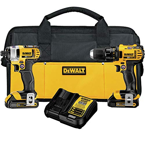 DEWALT 20V MAX Impact Driver and Drill Combo Kit (DCK28...