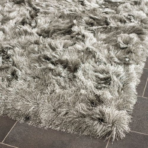 Safavieh 5' x 7' Rectangular  Area Rug SG511-7575-57 Silver/Silver Color Power Loomed China