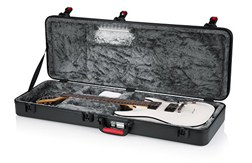 Gator Molded Flight Case for Electric Guitar with Internal LED Lighting and TSA Approved Locking Latch (GTSA-GTRELEC-LED)