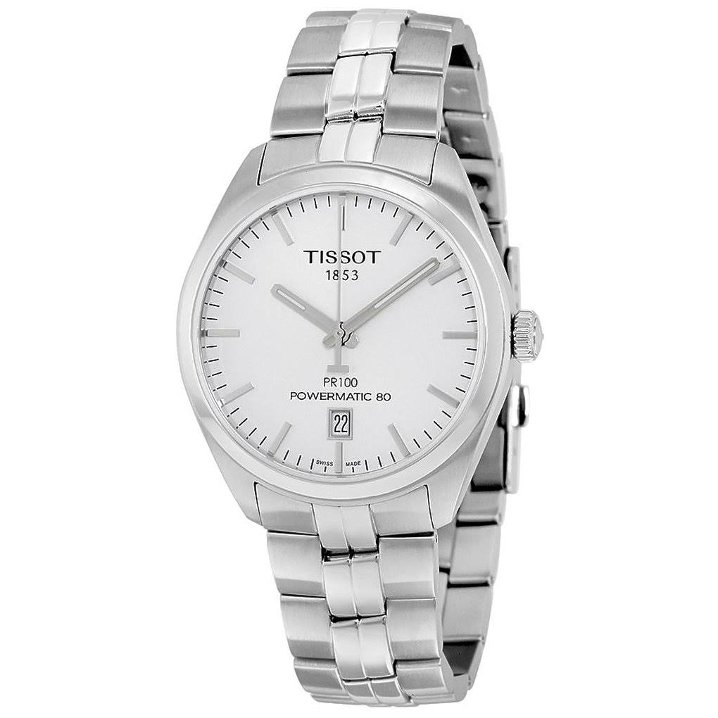 Tissot PR 100 Silver Dial Stainless Steel Automatic Men...