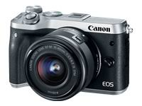 Canon EOS M6 (Silver) EF-M 15-45mm f/3.5-6.3 IS STM Len...