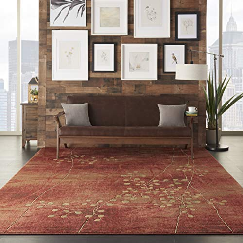 Nourison Somerset Flame Rectangle Area Rug, 7-Feet 9-In...