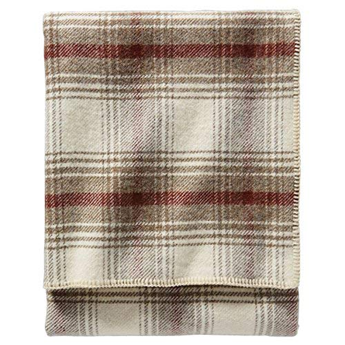 Pendleton Eco-Wise Easy Care Wool Blanket, White, Queen Size