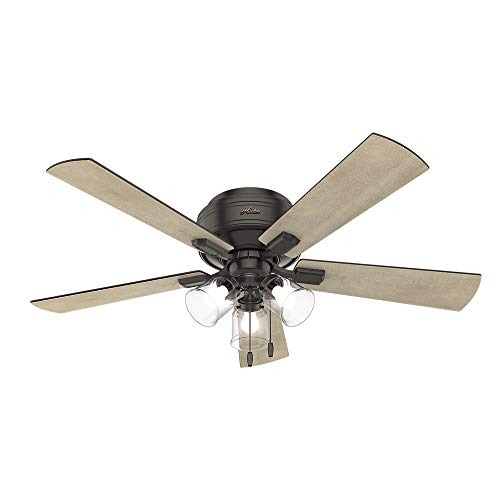 Hunter Indoor Low Profile Ceiling Fan, with pull chain ...