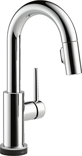 Delta Faucet Trinsic Single-Handle Bar-Prep Touch Kitchen Sink Faucet with Pull Down Sprayer, Touch2O Technology and Magnetic ...