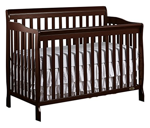 Dream on Me , Ashton 5-in-1 Convertible Crib, Espresso