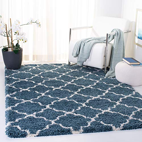 Safavieh Hudson Shag Collection SGH282L Slate Blue and ...