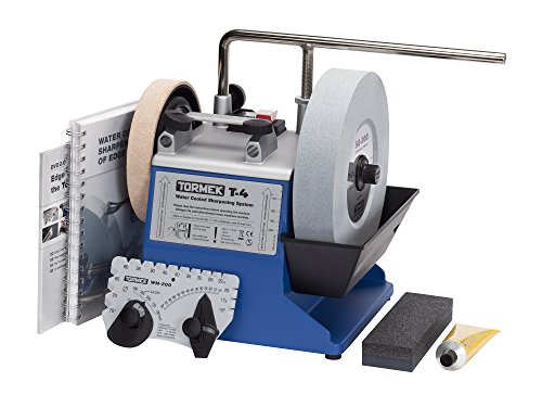 TORMEK T-4 - Compact Water Cooled Sharpening System for Edge Tools - 115 V - English Handbook
