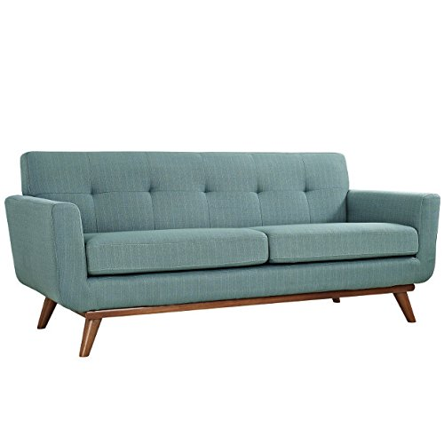 Modway Engage Upholstered Loveseat in Laguna