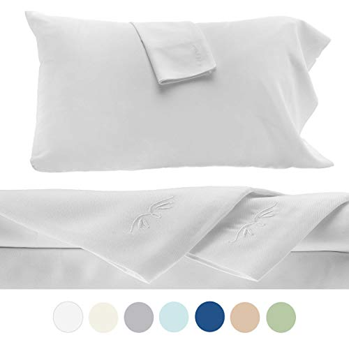 BedVoyage Bamboo Sheets - 4 Piece Bed Sheet Set - Hypoa...
