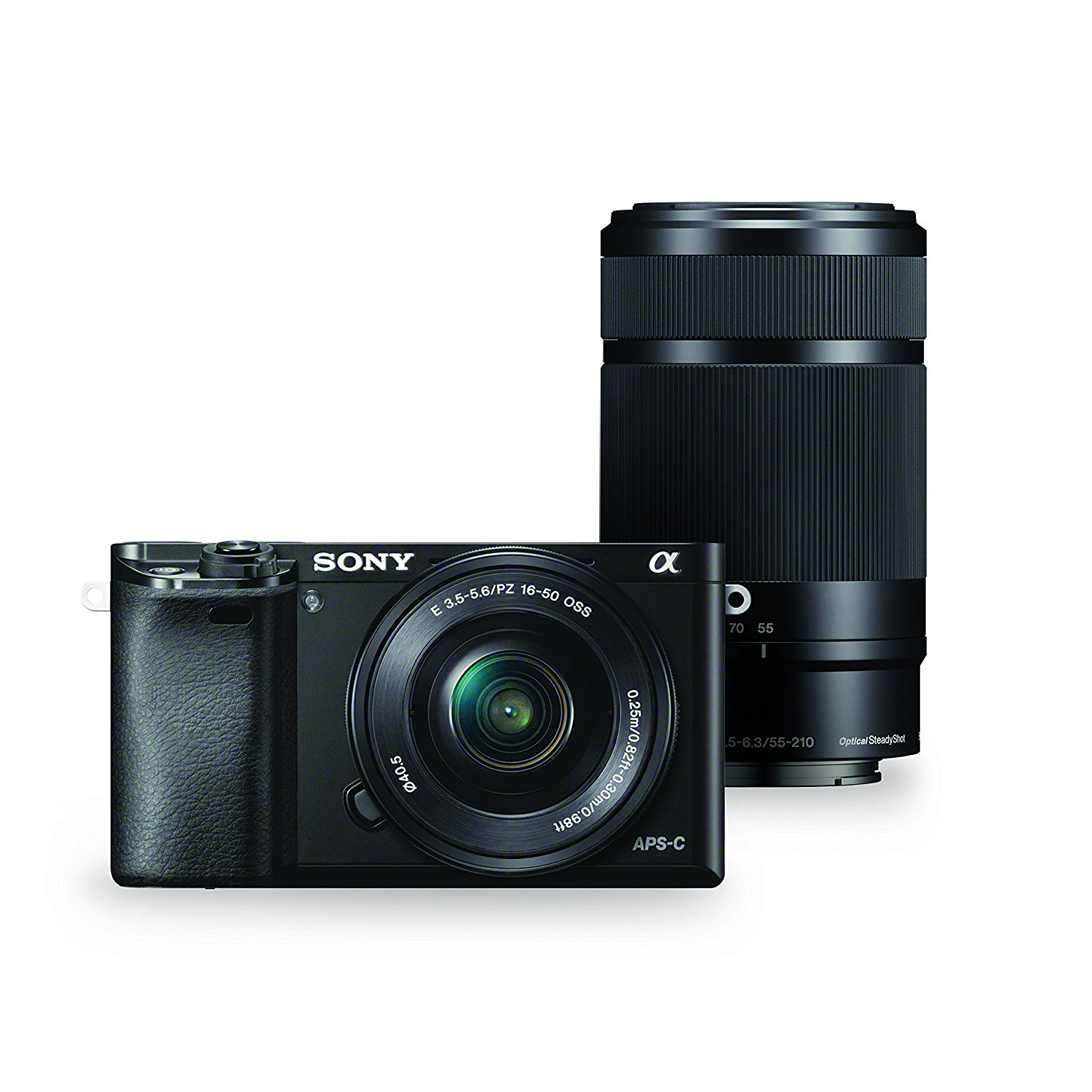 Sony Alpha a6000 Camera w/ 16-50mm & 55-210mm Lens ...