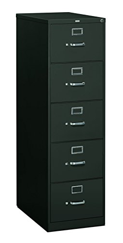 HON 5 Drawer Filing Cabinet - 310 Series Full-Suspension Legal File Cabinet, 26-1+2-Inch Drawers, Charcoal (H315c)