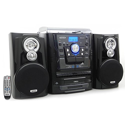 JENSEN Bluetooth 3-Speed Stereo Turntable and 3 CD Chan...