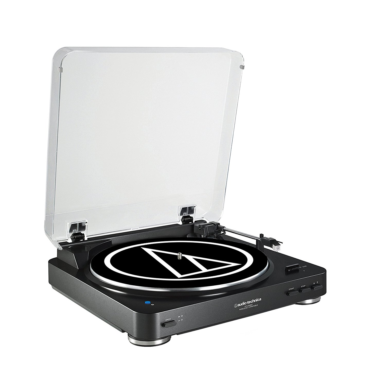 audio-technica Audio Technica AT-LP60BK-BT Fully Automatic Bluetooth Wireless Belt-Drive Stereo...