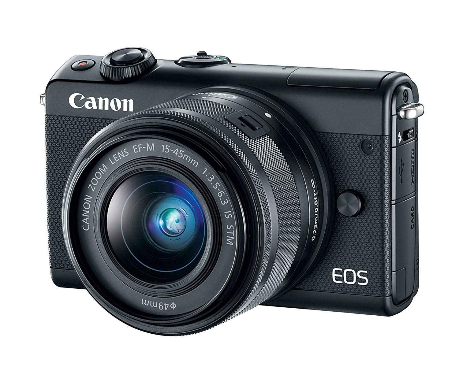 Canon EOS M100 Mirrorless Camera w/ 15-45mm Lens - Wi-F...