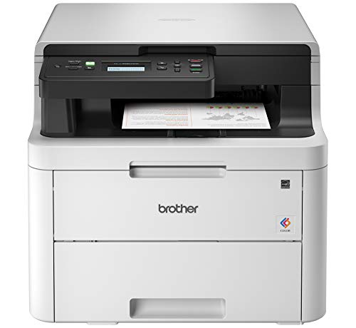 Brother Printer Brother HL-L3290CDW Compact Digital Color Printer Providing Laser Printer Quality Results with Convenient Flatbed Copy & Scan, Wireless Printing and Duplex Printing, Amazon Dash Reple...