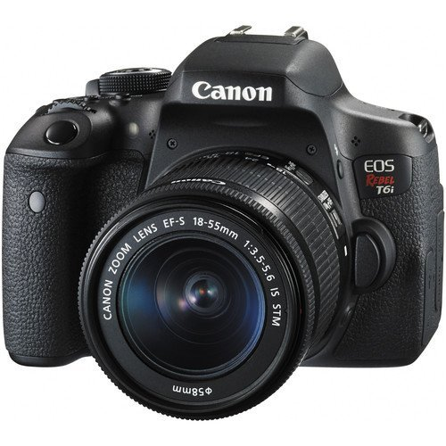 Canon EOS Rebel T6i DSLR Camera with EF-S 18-55mm f/3.5...