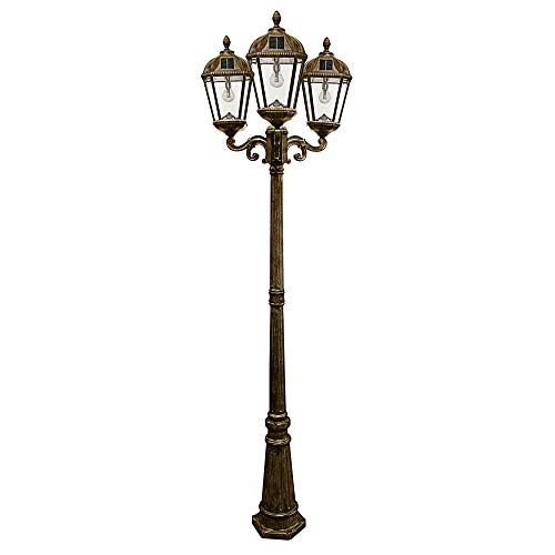 Gama Sonic GS-98B-T-WB Royal Bulb Triple Head Lamp Post...