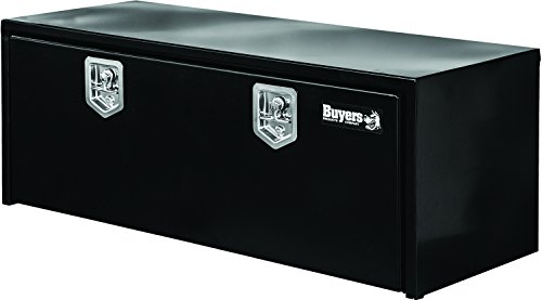 Buyers Products - 1702310 Black Steel Underbody Truck Box w+ T-Handle Latch (18x18x48 Inch)