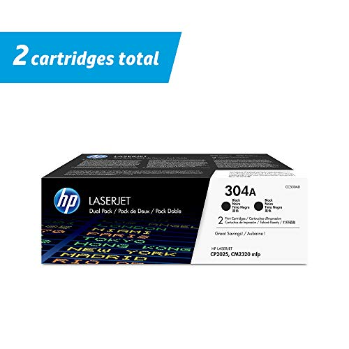 HP 304A | CC530AD | 2 Toner Cartridges | Black